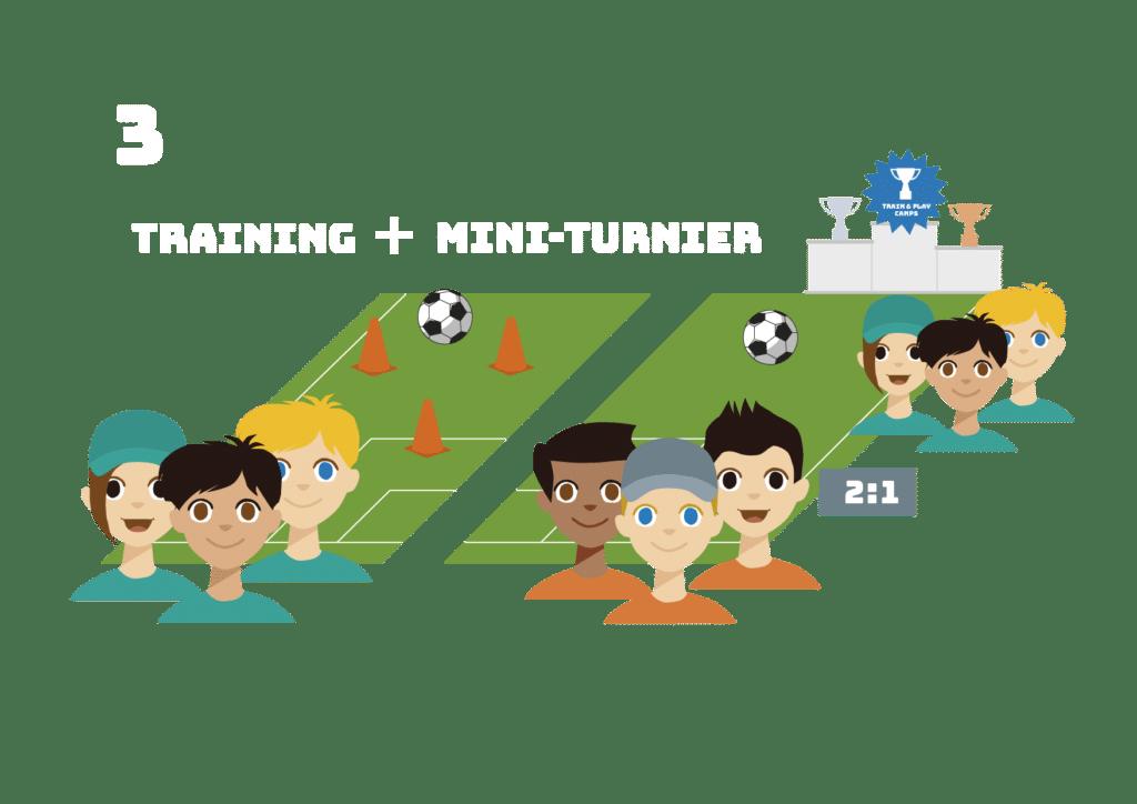 Parallel zu Eurem Trainingslager spielt Ihr ein Mini-Turnier gegen die anderen Teams.