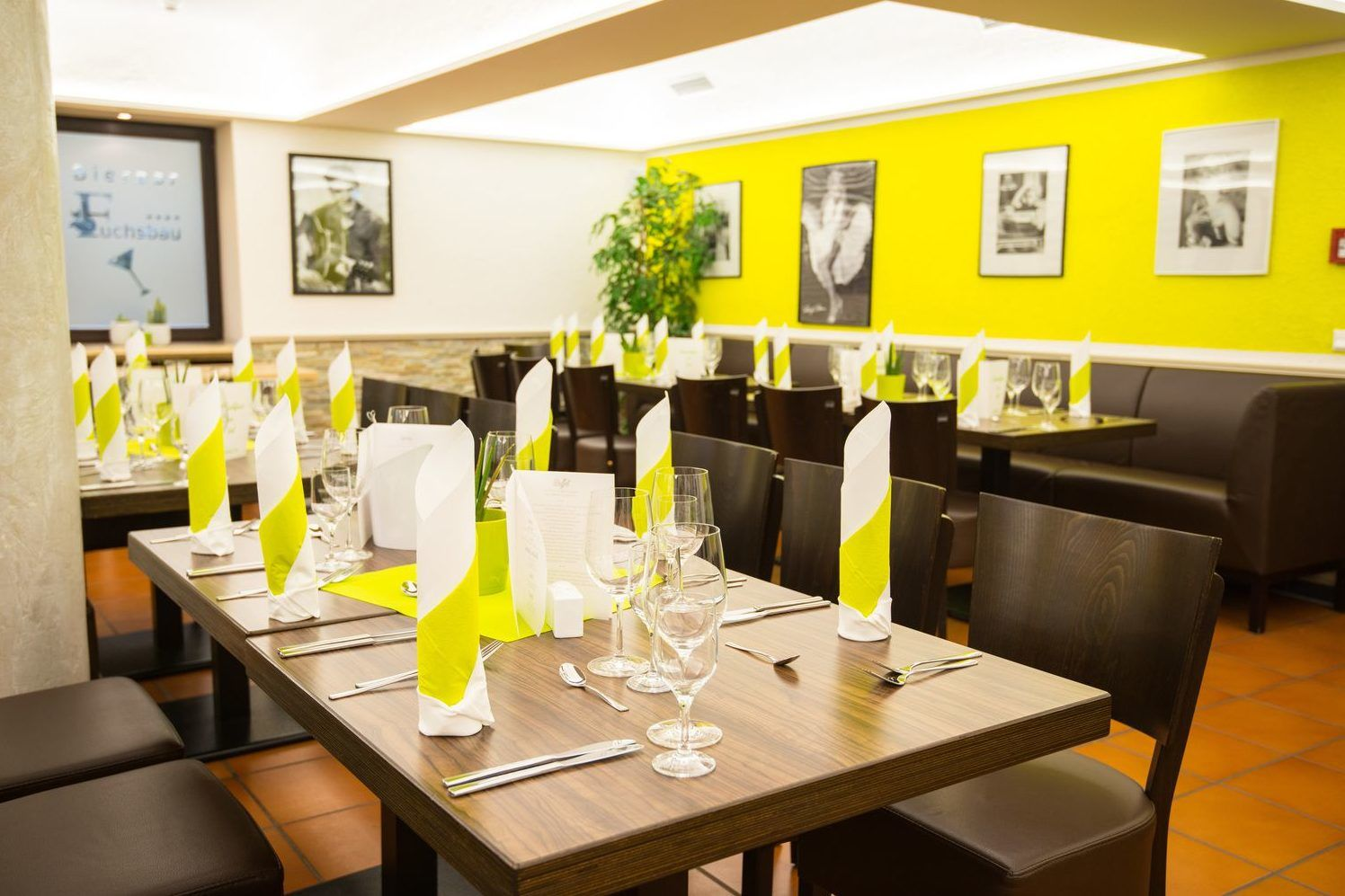 Die Essensräume können bei besonderen Anlässen auch extra schön dekoriert werden