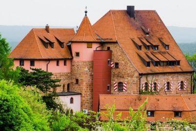 Historische Unterkunft beim Trainingslager auf der Burg