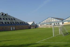 Weitläufige Anlage des Fussball Trainingslager Flensburger Foerde