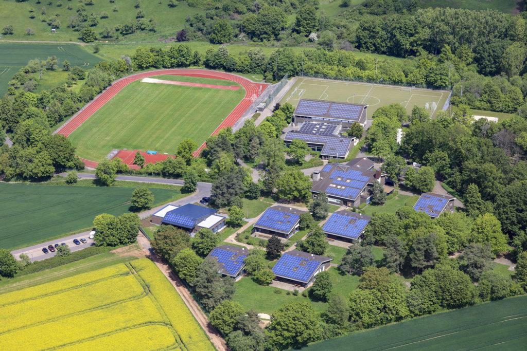 Luftaufnahme des Fussball Trainingslager Frankfurt