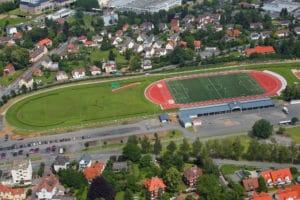 Trainingsgelaende des Fussball Trainingslager Odenwald