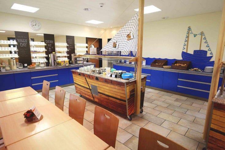 Gastronomie während des Trainingslager Ostseestrand Rostock mit leckerem Buffet
