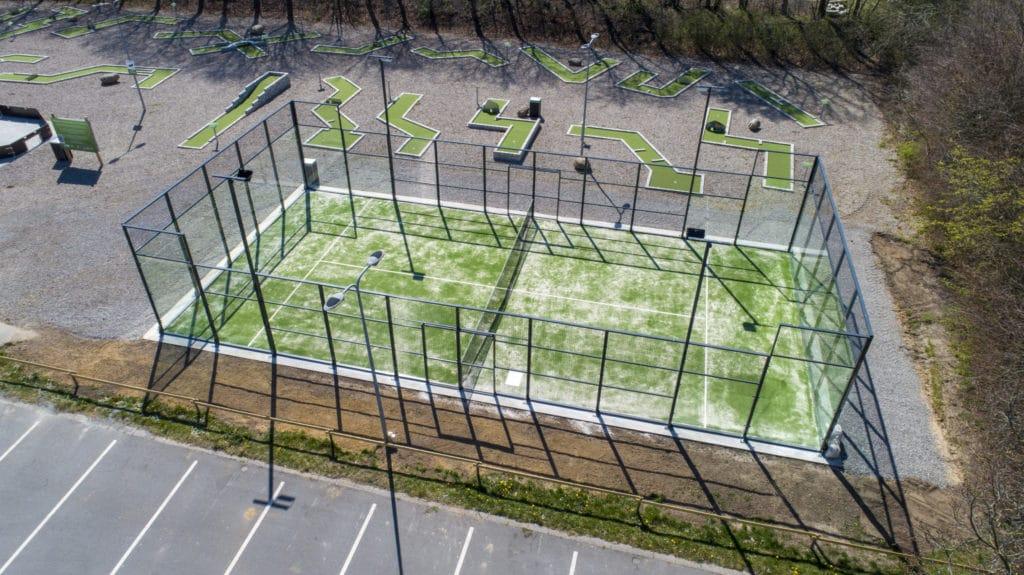 Soccercourt im Fussball Trainingslager Rodding