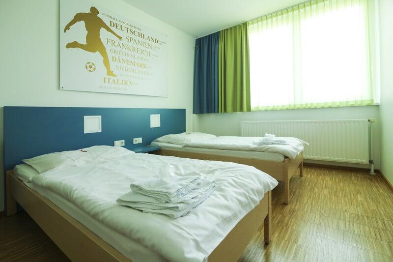 Doppelzimmer in der Sportschule Saarland