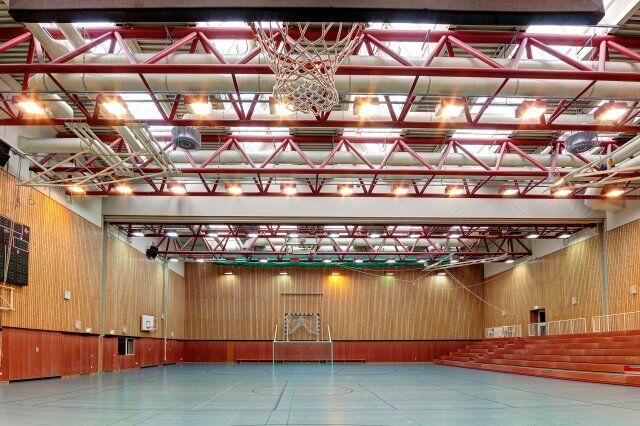 Sporthalle der Sportschule Wedau für ein Trainingslager