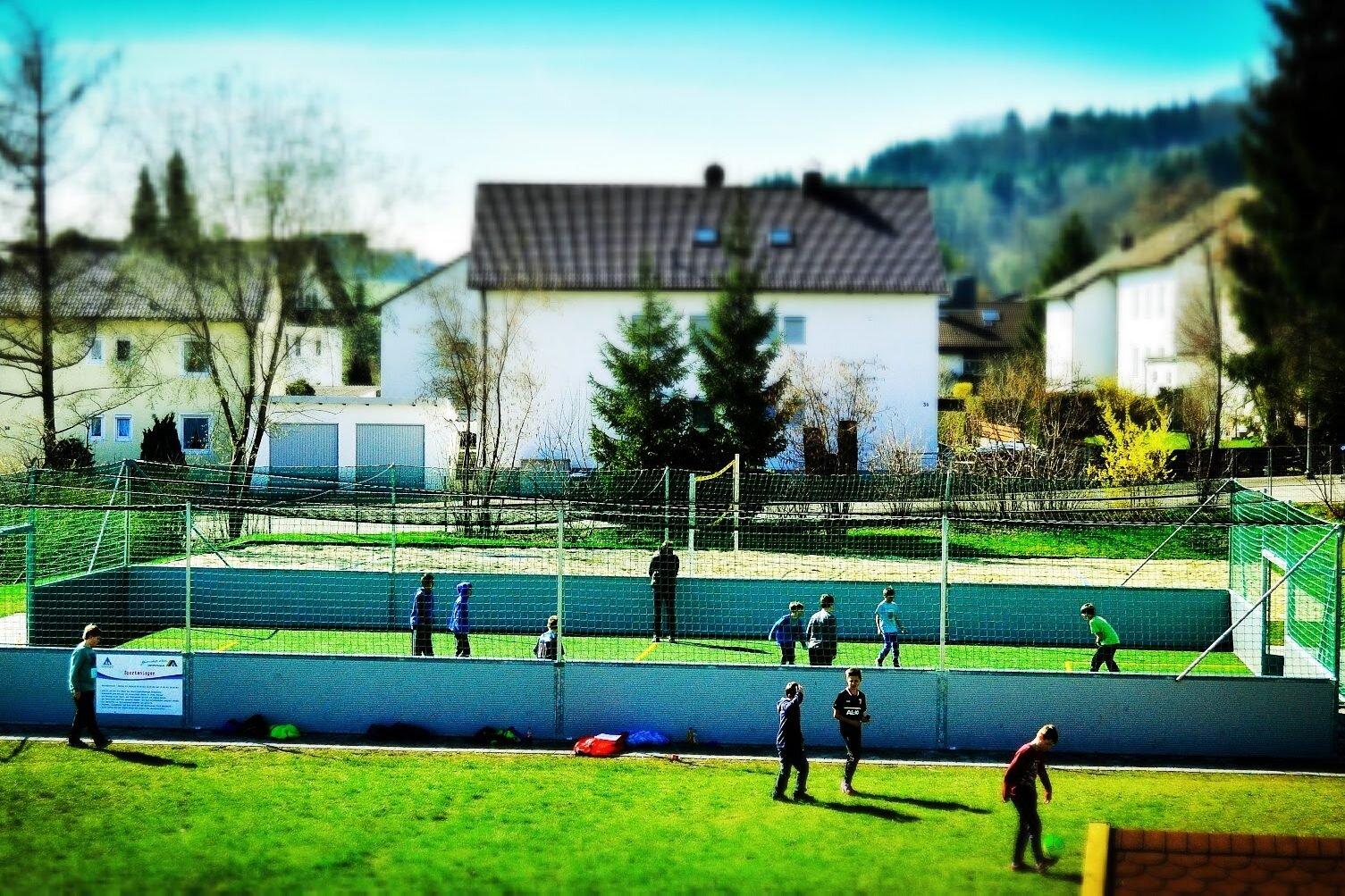 Soccercourt beim Fussball Trainingslager Allgaeu