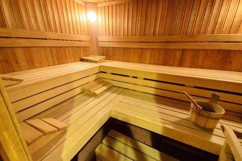 Saunabereich im Fussball Trainingslager Erlaufsee