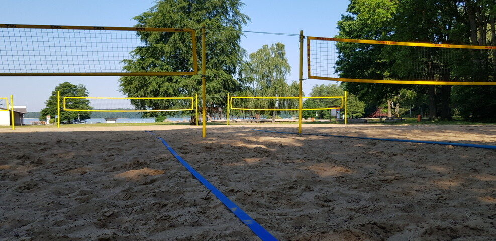 Tolle Beachvolleyballanlage im Fussball Trainingslager Haus am See