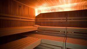 Wellnessbereich mit eigener Sauna im Trainingslager Leipzig