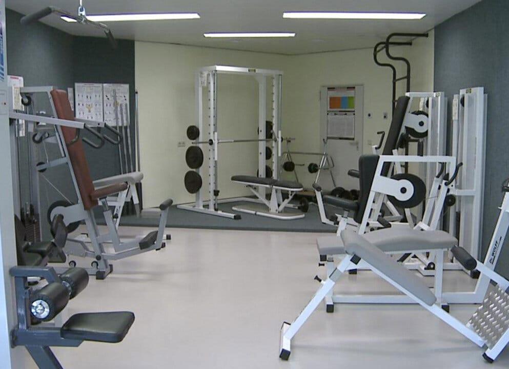 Training auch an den im Fitnesscenter des Sportparks