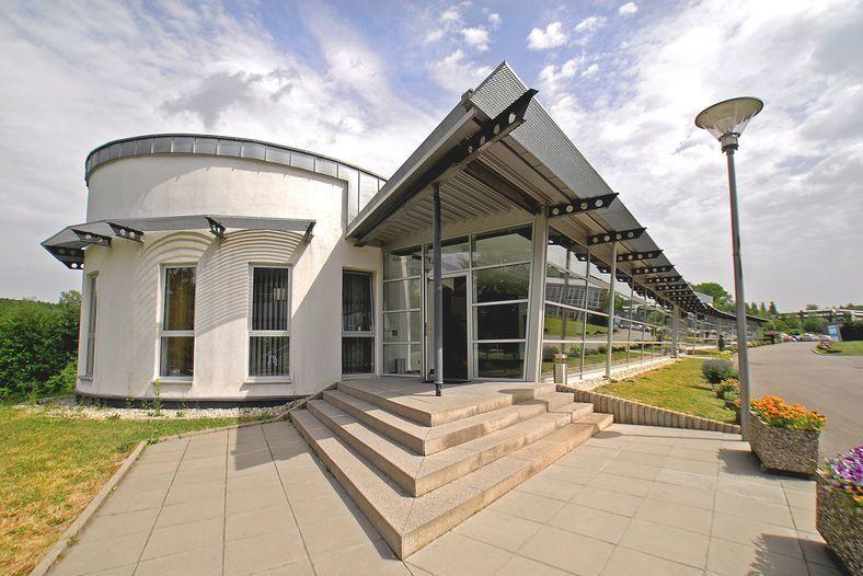 Eingangsbereich Sportschule Saarland während Fussball Trainingslager