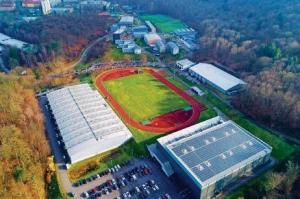 Luftbild des Trainingslager Sportschule Saarland
