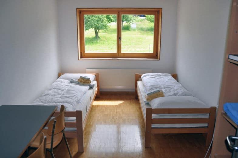 Doppelzimmer im Fussball Trainingslager Sportcampus Emmental