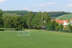 Rasenplatz im Trainingslager Allgaeu