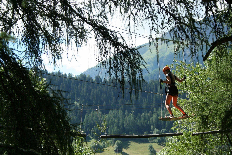Kletterpark im Fussball Trainingslager Wallis