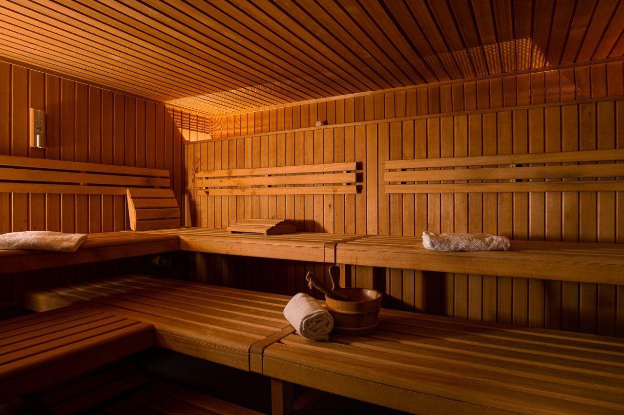 Saunabereich im Fussball Trainingslager Wallis