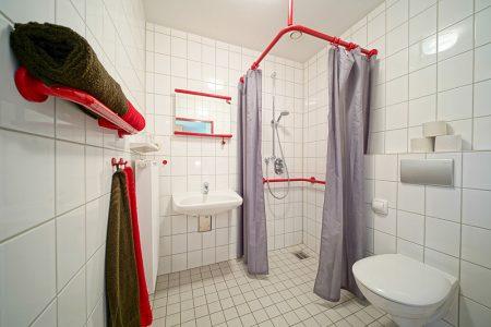 Badezimmer beim Fussball Trainingslager Ammerland