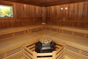 nach den Trainingseinheiten in die Sauna direkt an der Saale