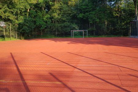 Funcourt im Fussball Trainingslager Haus am See
