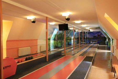 Kegelbahn im Fussball Trainingslager Haus am See