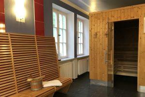 Saunabereich im Fussball Trainingslager Haus am See