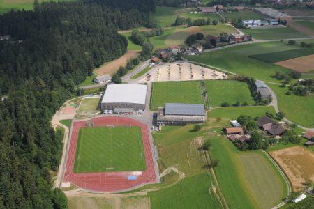 Luftaufnahme des Fussball Trainingslager Sportcampus Emmental
