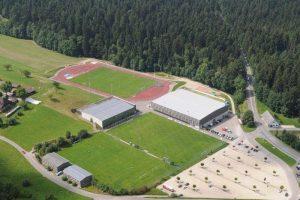 Luftbild des Fussball Trainingslager Sportcampus Emmental