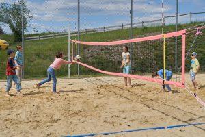 Beachvolleyballplatz im Fussball Trainingslager Sportcampus Emmental
