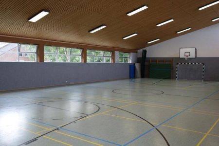 Sporthalle im Trainingslager St. Peter Ording